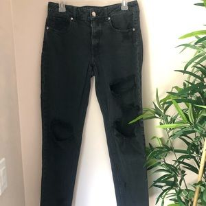 American Eagle Black Ripped Tomgirl Jeans